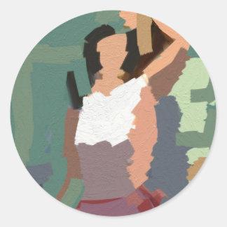 Women´s rights classic round sticker