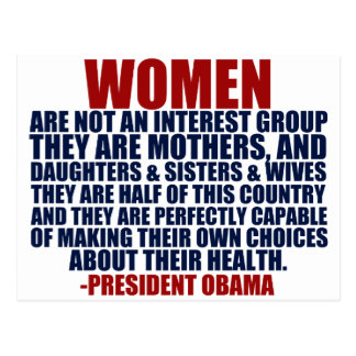Women s Rights Obama Quote Post Cards