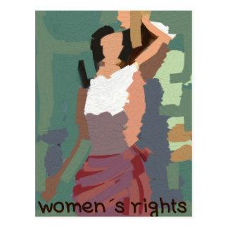 Women´s rights postcard