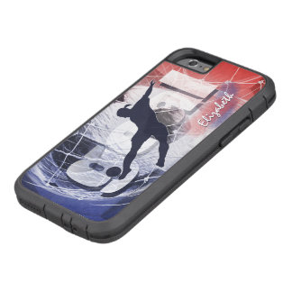 Women's soccer red white and blue tough xtreme iPhone 6 case