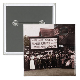 Women s Suffrage Group with Banner Pin