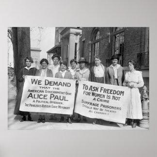 Women s Suffrage Pickets 1917 Print