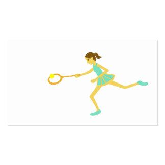 Women s tennis business cards