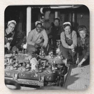 Women Shipfitters Working on  US Naval Submarine Beverage Coasters