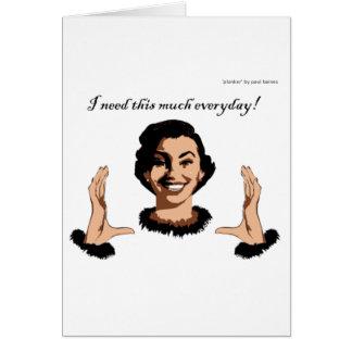 women smile greeting card