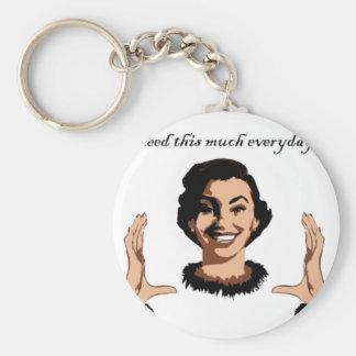 women smile keychain