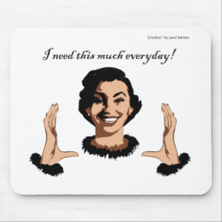 women smile mouse pad