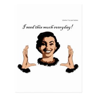 women smile postcard