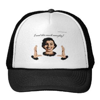 women smile trucker hat