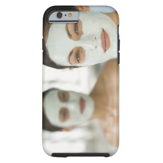 Women smiling in beauty mud masks tough iPhone 6 case