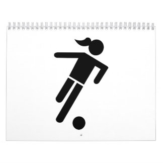 Women soccer wall calendar