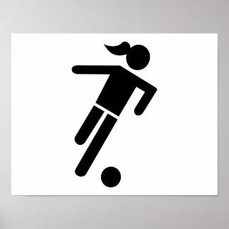 Women soccer print