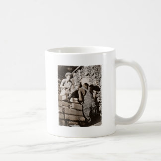 Women Stacking Gas Cans for Shipping WWII Mugs