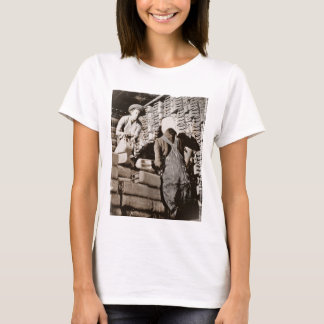 Women Stacking Gas Cans for Shipping WWII T-Shirt