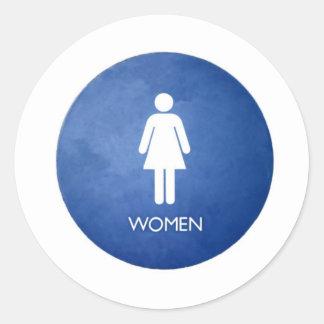 Women Classic Round Sticker