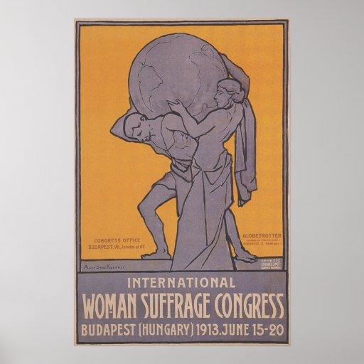 Women Suffrage Congress Poster 1913