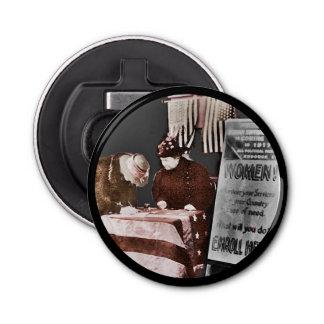 Women Suffragettes Enroll as War Supporters Bottle Opener