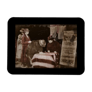 Women Suffragettes Enroll as War Supporters Rectangular Photo Magnet