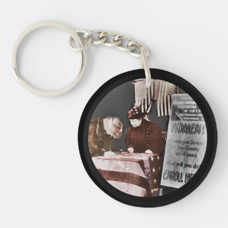 Women Suffragettes Enroll as War Supporters Single-Sided Round Acrylic Keychain