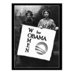Women Suffragettes for Obama Postcard