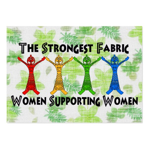 Women supporting women large business cards pack of 100 for Business cards for women