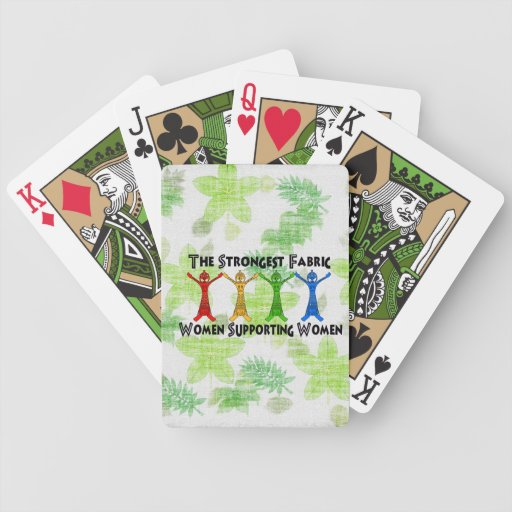 Women Supporting Women Playing Cards