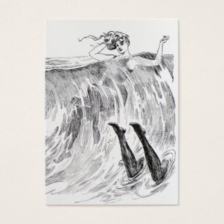 Women Swimming In the Sea - Two Sided Business Card