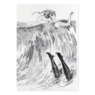 Women Swimming In the Sea - Two Sided Large Business Card