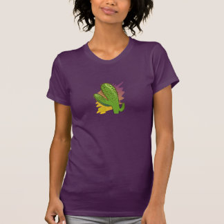 Women T-shirt Bordeaux Kaktusmotiv