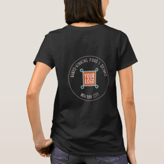 Women T-Shirt with Custom Logo on Back or Front