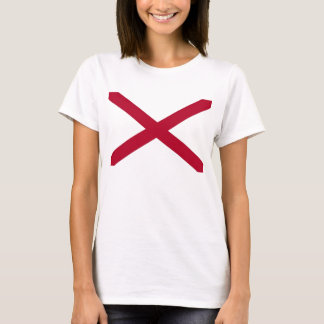 Women T Shirt with Flag of Alabama State