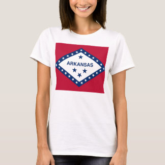 Women T Shirt with Flag of Arkansas State