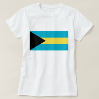 Women T Shirt with Flag of Bahamas