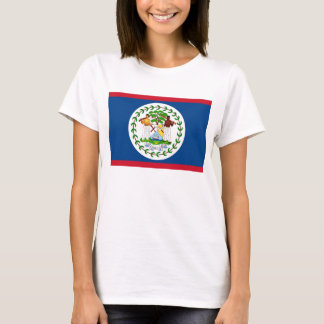 Women T Shirt with Flag of Belize