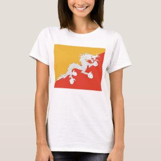 Women T Shirt with Flag of Bhutan