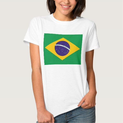 Women t shirt with flag of brazil zazzle for Womens brazil t shirt