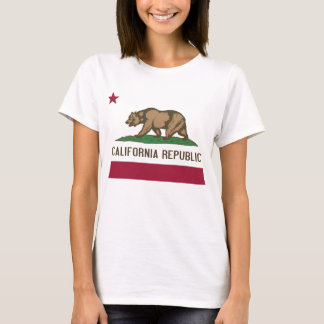 Women T Shirt with Flag of California State