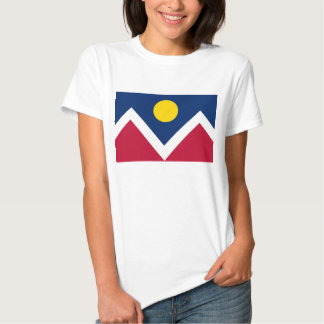 Women T Shirt with Flag of Denver, Colorado State