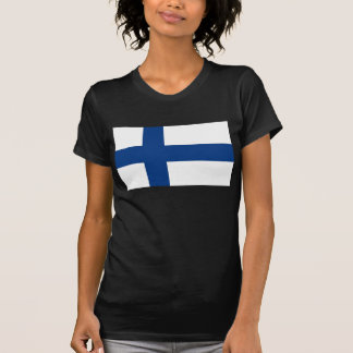 Women T Shirt with Flag of Finland