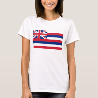 Women T Shirt with Flag of Hawaii State