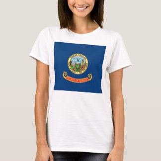 Women T Shirt with Flag of Idaho State