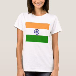 Women T Shirt with Flag of India