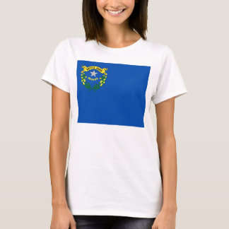 Women T Shirt with Flag of Nevada State