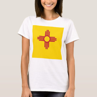 Women T Shirt with Flag of New Mexico State