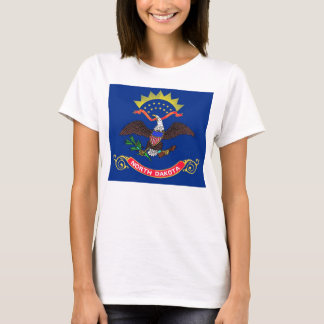 Women T Shirt with Flag of North Dakota State