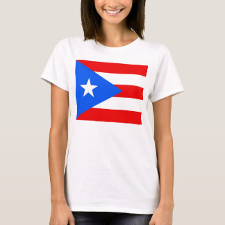 Women T Shirt with Flag of Puerto Rico