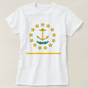 2b41a8659 Women T Shirt with Flag of Rhode Island State