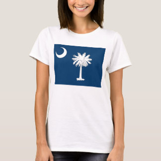 Women T Shirt with Flag of South Carolina State