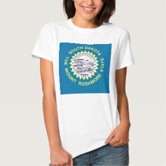 Women T Shirt with Flag of South Dakota State