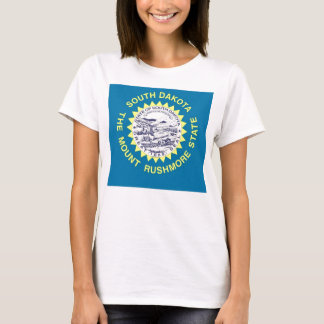 Women T Shirt with Flag of South Dakota State